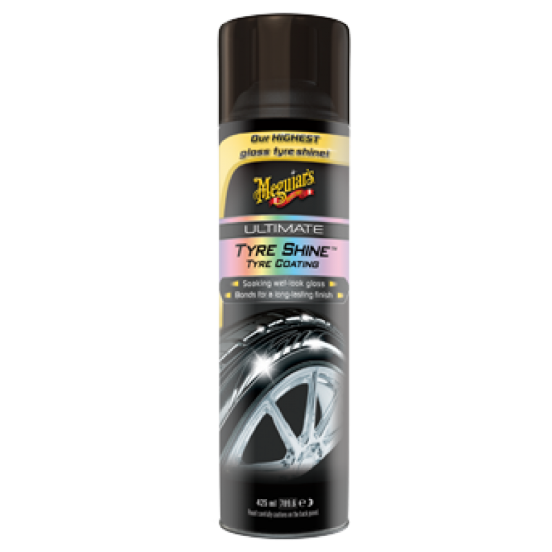 Meguiar's Ultimate Shine Tyre Coating Bandenspray in handige spuitbus