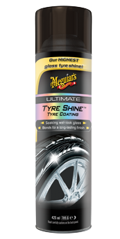 Meguiar's Ultimate Shine Tyre Coating Bandenspray in handige spuitbus