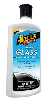 Meguiar's Perfect Clarity Glass Polishing Compound Verwijder vastzittend vuil van ruiten