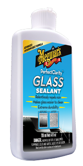 Meguiar's Perfect Clarity Glass Sealant Waterafstotende barrière op glas